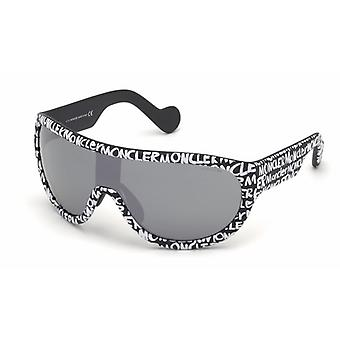 Moncler ML 0106 05C Black/Smoke Mirror Sunglasses