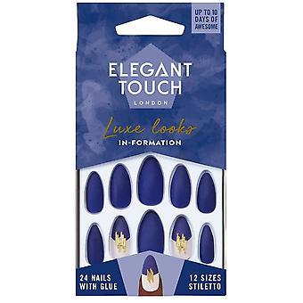Elegante Touch Luke sembra falsa collezione unghie - In-Formation (24 chiodi con colla)