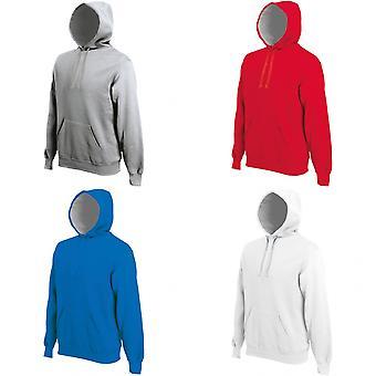 Kariban Mens Heavy Contrast Hooded Sweatshirt / Hoodie