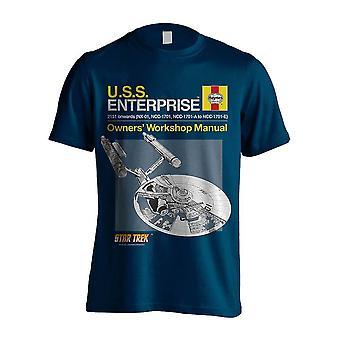 Men's Star Trek Enterprise Haynes Manual Crew Neck T-Shirt