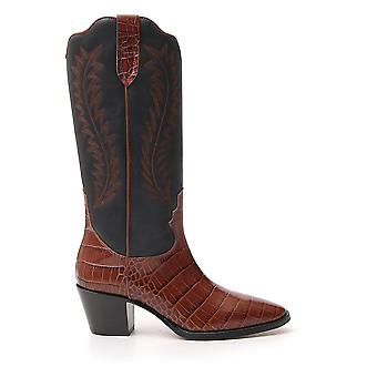 Paris Texas Px174cecoccoelyse Women's Brown/black Leather Boots