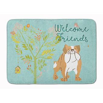 Welcome Friends English Bulldog Machine Washable Memory Foam Mat