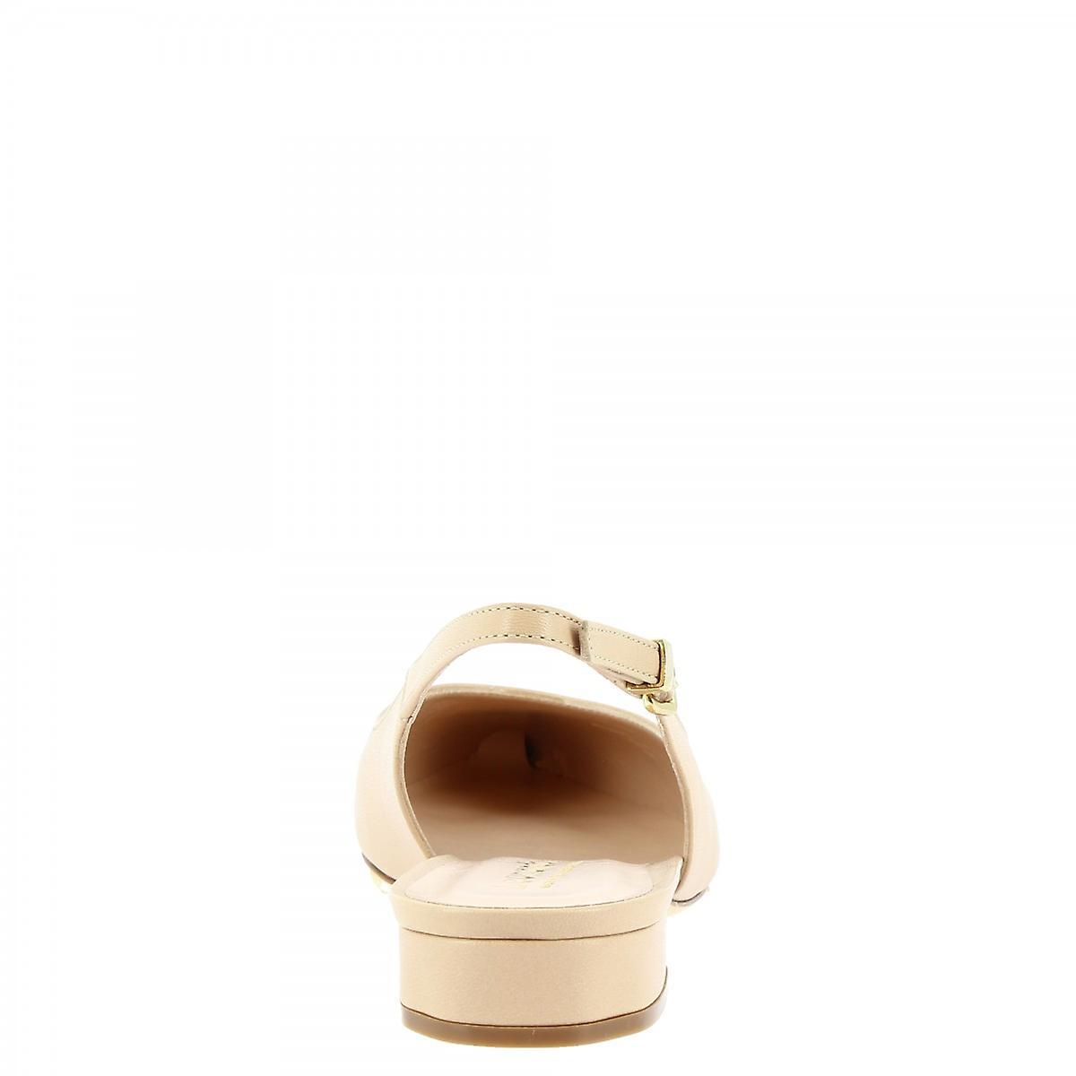 Leonardo Scarpe Donne's ballerine a punta a punta fatte a punta balletto in pelle bfVD82