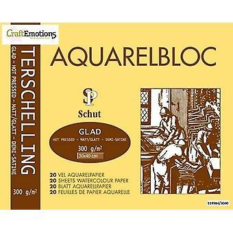 Schut Terschelling Watercoloured pad smooth 30x40cm 300 gram - 20 sheets