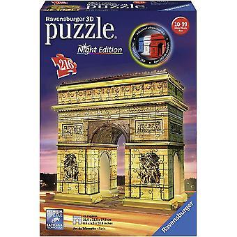 Ravensburger Arc De Triomphe - Edycja nocna, 216pc 3D Puzzle