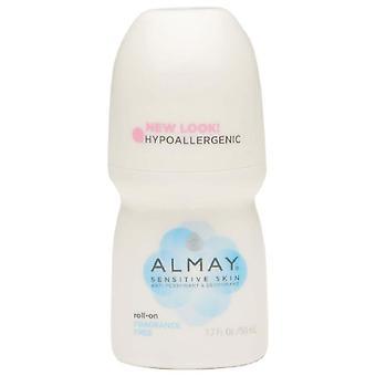 Almay roll-on antiperspirant & deodorant, fragrance free, 1.7 oz