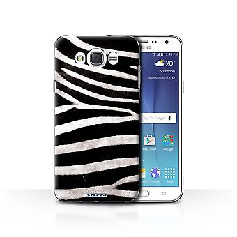 STUFF4 Case/Cover for Samsung Galaxy J7 (2016)/Zebra/Animal Fur Pattern