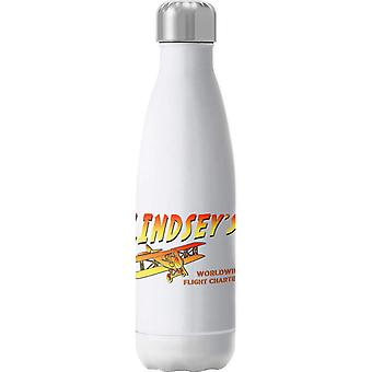 Indiana Jones Jock Lindsays Flight Charters Insulated Stainless Steel Water Bottle