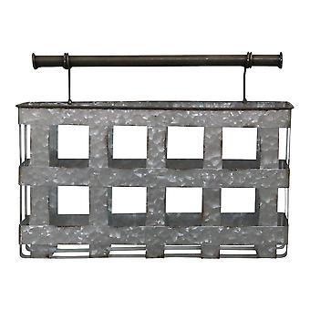 亜鉛めっき手作りの金属壁ハンギングバスケット