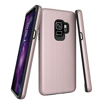 For Samsung Galaxy S9 Case, Rose Gold Armor Shockproof Protective Cover