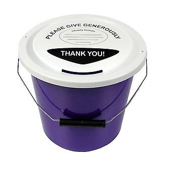 10 hyväntekeväisyyteen rahaa kokoelma kauhat 5 litraa - violetti