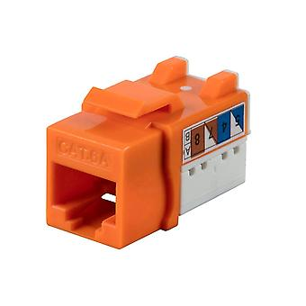 Cat6A 90 Degrés Unshielded Punch Down Keystone Jack - Orange (25 Pack) Dual Type IDC, High-speed, Easy-to-Use par Monoprice