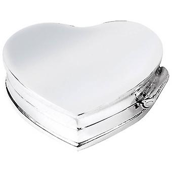 Orton West Heart Shaped Pill box - Silver