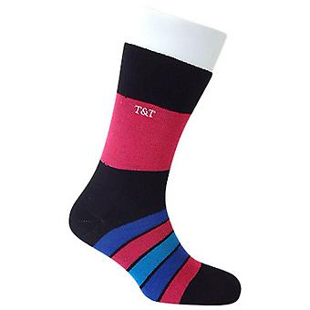 Tyler e Tyler Kaleidoscope meias - preto/rosa/azul