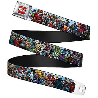 Children's Marvel Universe Heroes & Villains Portrait Seatbelt Buckle Web Belt (20-36