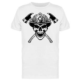 Scary Skull W/helmet And Axes Tee Men's -Image by Shutterstock