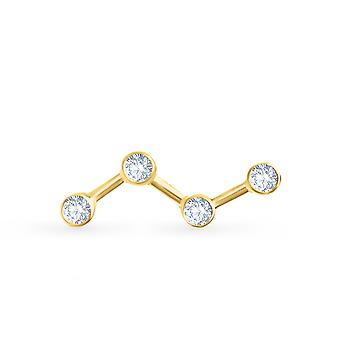 Earrings Cosmos 18K Gold and Diamonds (Single Piece) - Yellow Gold