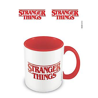 Logo Stranger Things Czerwone wewnątrz kubka