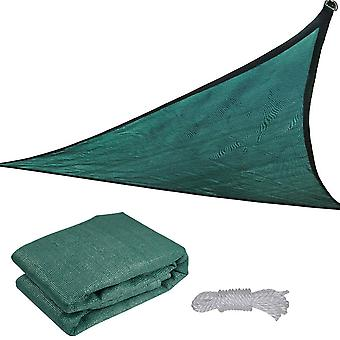 11.5' Triangle Sun Shade Sail Patio Deck Beach Garden Yard Outdoor Canopy Cover UV Blocking Green