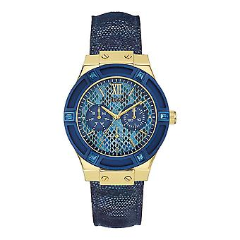 Guess W0289L3 Round Analog Blue Dial Ladies Watch