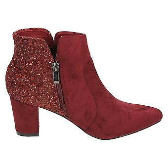 Anne Michelle Womens/Ladies Mid Heel Ankle Boots