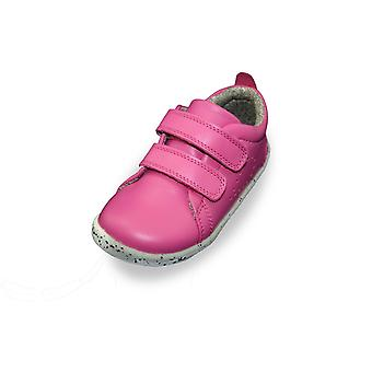 Bobux i-walk grass court raspberry trainer shoes