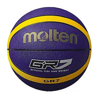 Molten GR7 Indoor Outdoor Rubber Basketball Ball Purple/Yellow