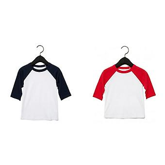 Bella + Canvas Baby Toddler 3/4 Sleeve Baseball Tee