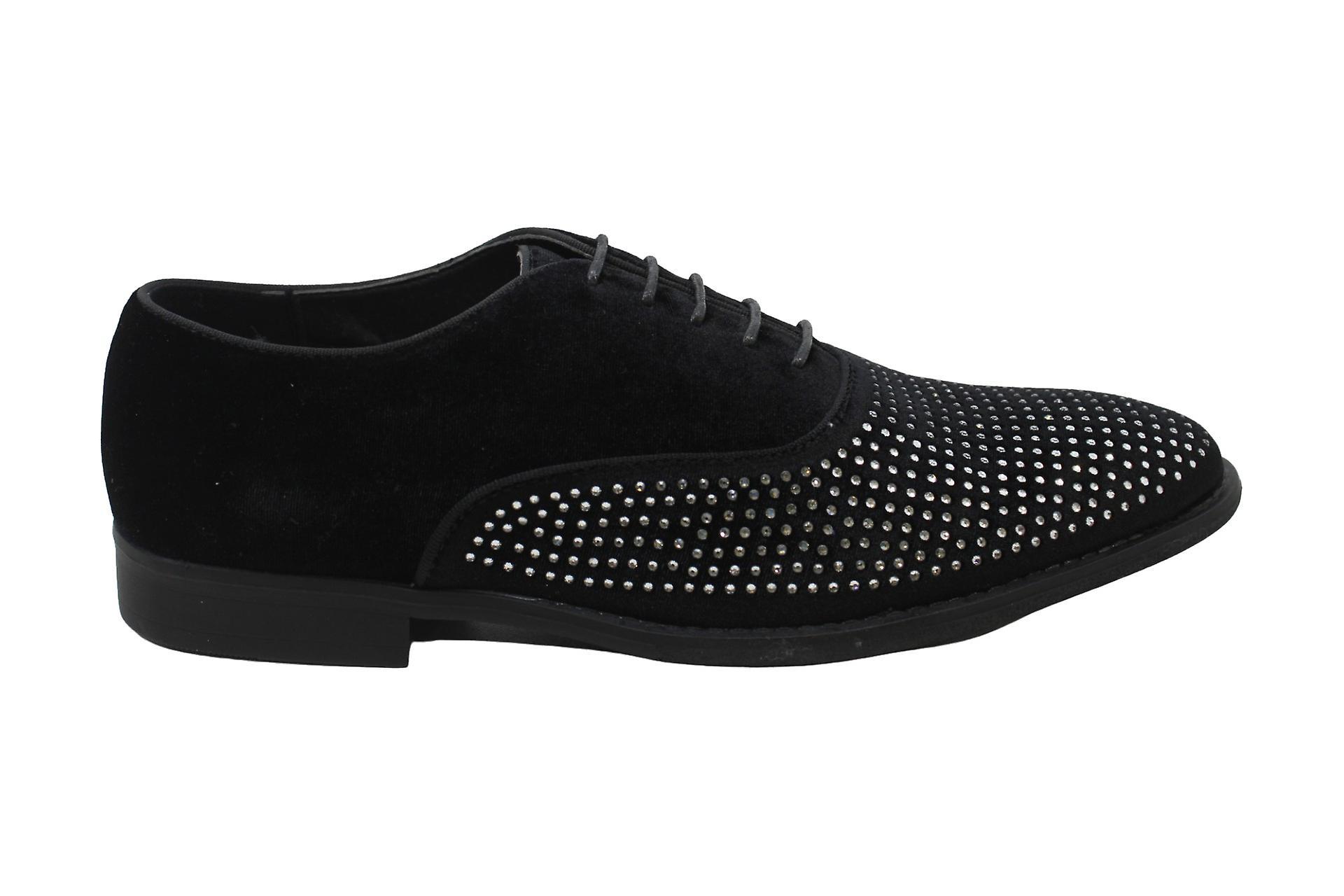 INC International Concepts Men's Shoes Dominik Fabric Lace Up Dress Oxfords