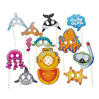 12 Under the Sea Photo Booth Props for Kids Sealife Parties