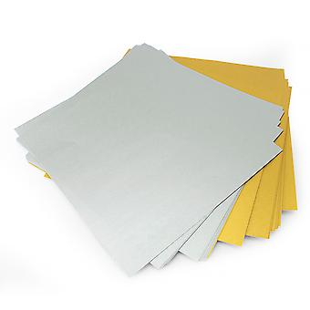 30 Sheets of 6 Inch (150mm) Matt Gold & Silver Origami Paper