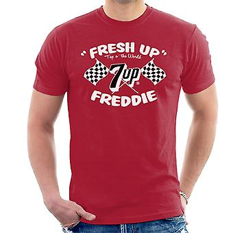 7up Fresh Up Freddie Racing Flag Men 's T-Shirt