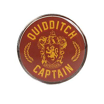 Harry Potter Pin Insigna Gryffindor Quidditch Căpitan nou Oficial Red Metal