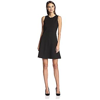 SOCIETY NEW YORK Women's Fit-and-Flare Dress, Black, M