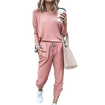 Womens Baggy Top & Pants Casual Wear Sport Lounge Tracksuit