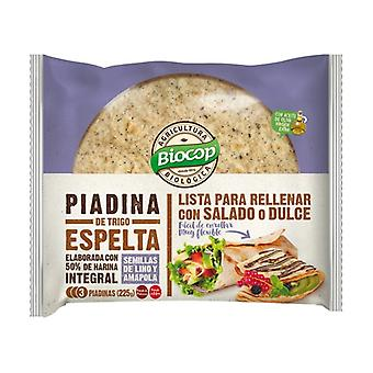 Spelled Wheat Piadina with Flax and Poppy Seeds 225 g