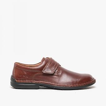 Josef Seibel Vigo 09 Mens Leather Touch Fasten Shoes Brandy