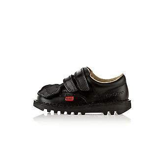 Kickers Kick Lo Infant Black Shoes Boots