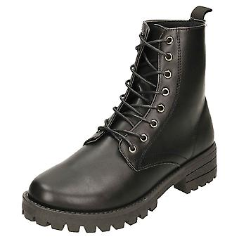 Krush Flat Boots Military Combat Lace Up Ankle Chunky