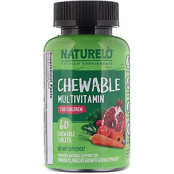 NATURELO, Chewable Multivitamin for Children, 60 Chewable Tablets