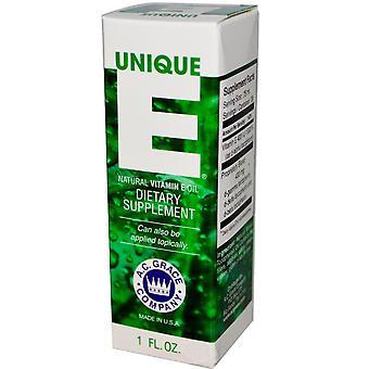 A.C. Grace Company, E unico, Olio di vitamina E naturale, 1 fl oz