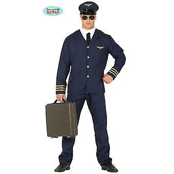Commandant de bord pilote costume costume pilote mens