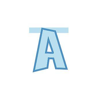 Linking Banner 20cm Baby Blue Letter - Een partij decoratie