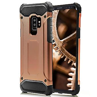 Shell for Samsung Galaxy S9 Plus Pink Gold Armor Protection Case Hard
