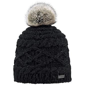 Barts Claire Bobble Hat in Black