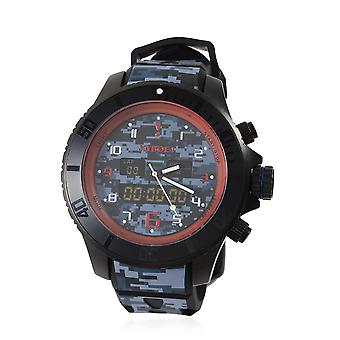 KYBOE Camo - Blueberry Hybrid - 48MM LED Mens Watch - 100M Water Resistant
