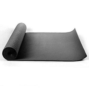 Kabalo - 173cm lång x 61cm bred - EXTRA TJOCK Svart 6mm - Non-Slip Black Yoga Mat med bärrem, även för Motion / Pilates / Gym / Camping, etc