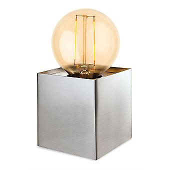 Firstlight Richmond - 1 Light Table Lamp Brushed Steel, E27