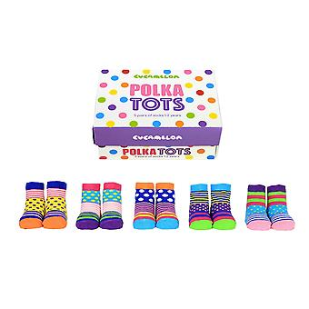 United odd socks polka dot tots