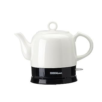 Sensio Home Bella Kettles - Electric Ceramic Cordless White Kettle Teapot Black